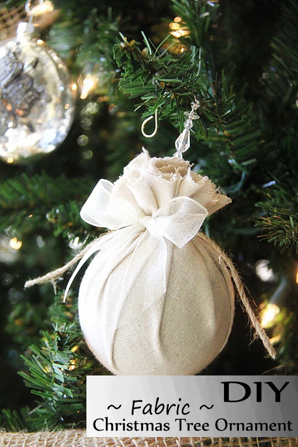 easy to make fabric diy christmas tree decoration - Easy Christmas Tree Decorations