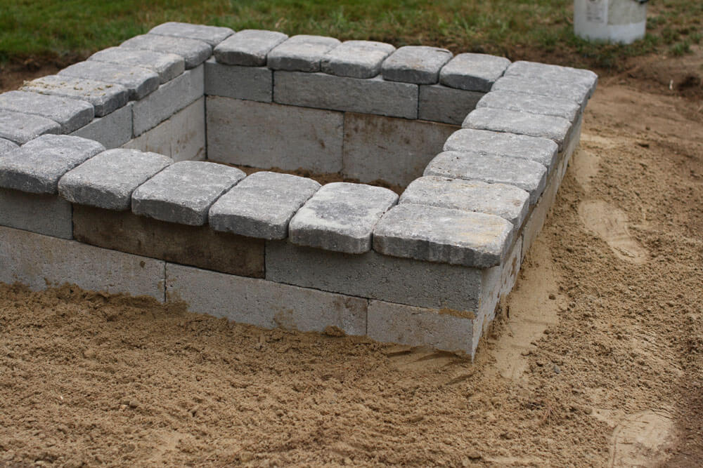 large-square-cement-paver-and-block-fire-pit