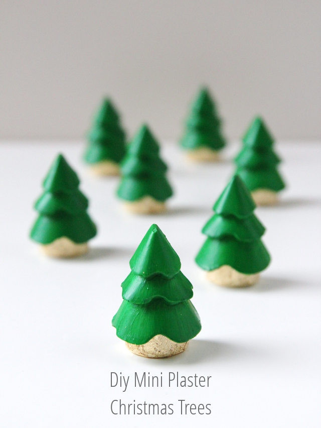mini plaster diy christmas tree decoration